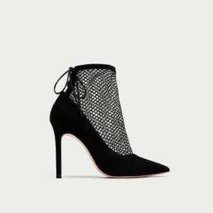 Zara mesh heel